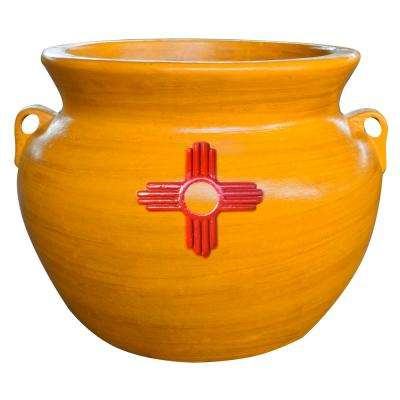21 in. Dia Santa Fe SHP Assorted Clay Pot