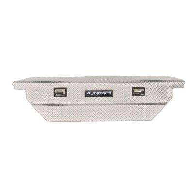 63 in. Mid Size Single Lid Aluminum Beveled Low Profile Cross Bed Truck Tool Box