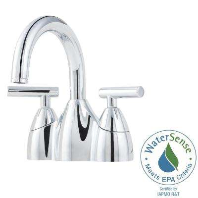 Contempra 4 in. Centerset 2-Handle Bathroom Faucet in Polished Chrome