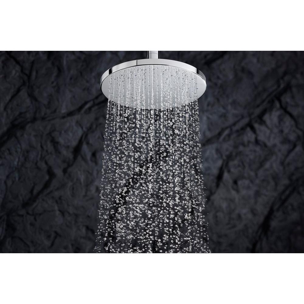 1-Spray 10.4 in. Single Ceiling Mount Fixed Rain Shower Head in Oil-Rubbed Bronze
