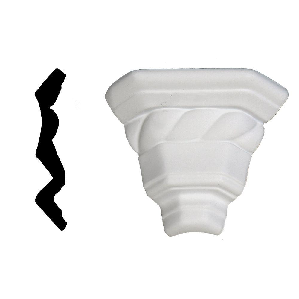 Lynea Molding Twist Collection 4-1/8 in. x 3-1/8 in. x 3-1/8 in. Composite Crown Outside Corner Moulding
