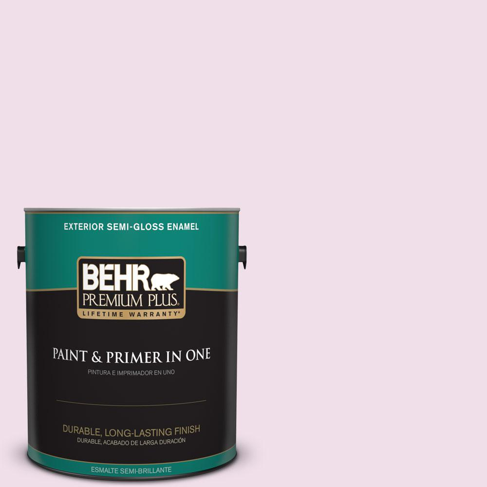 1-gal. #M120-1 Pink Proposal Semi-Gloss Enamel Exterior Paint