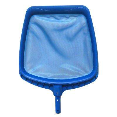 14 in. Heavy-Duty Blue Plastic Swimming Pool Leaf Skimmer Head