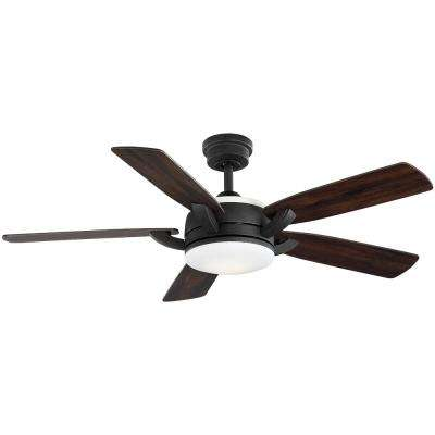 Colemont 52 in. Integrated LED Bronze Ceiling Fan with Light and Remote Control