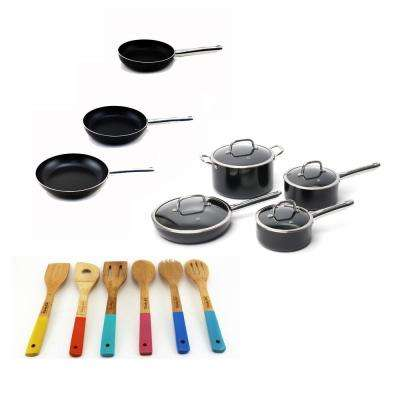EarthChef Boreal 17-Piece Cookware Set with Utensils