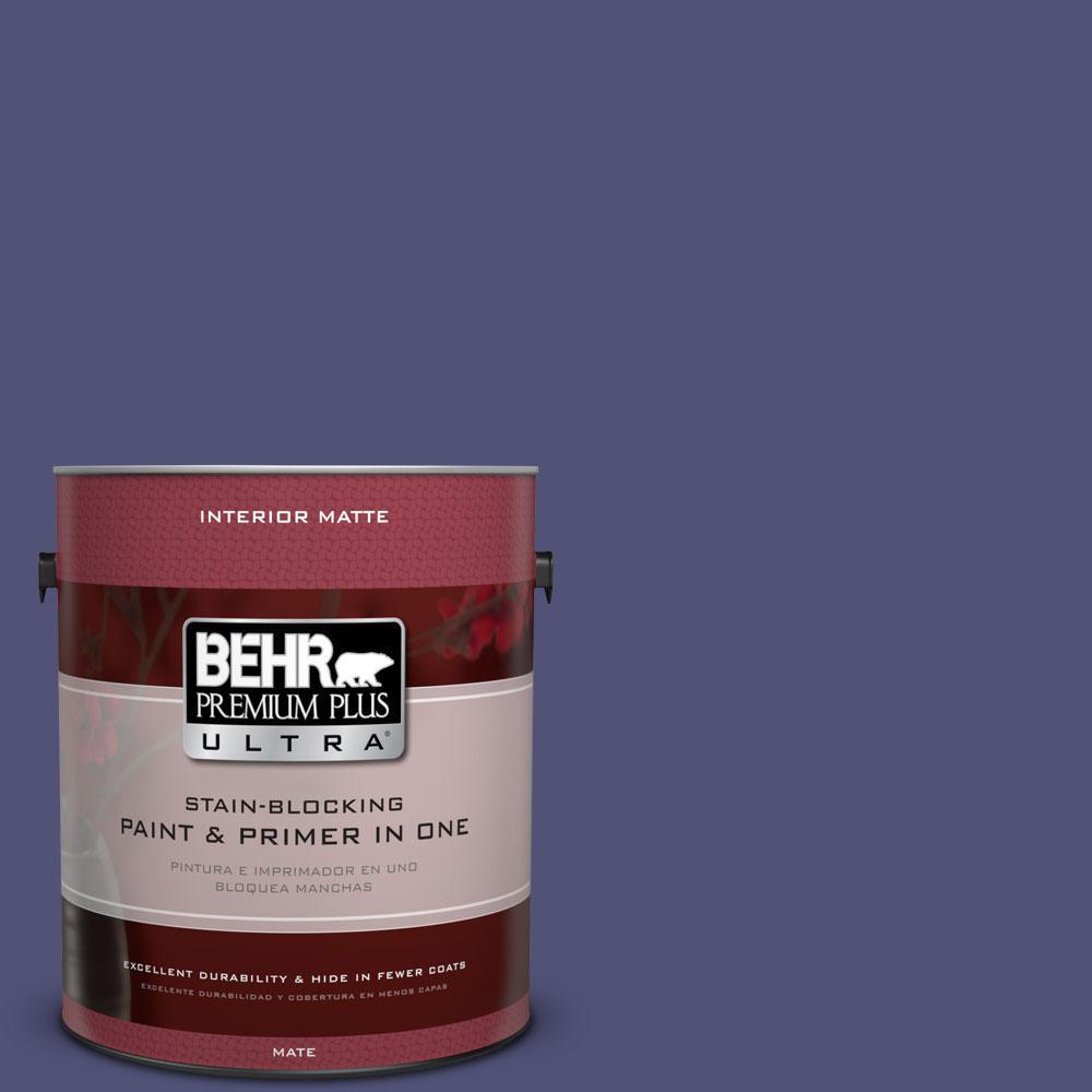 BEHR Premium Plus Ultra 1 gal. #630D-7 Deep Orchid Flat/Matte Interior Paint