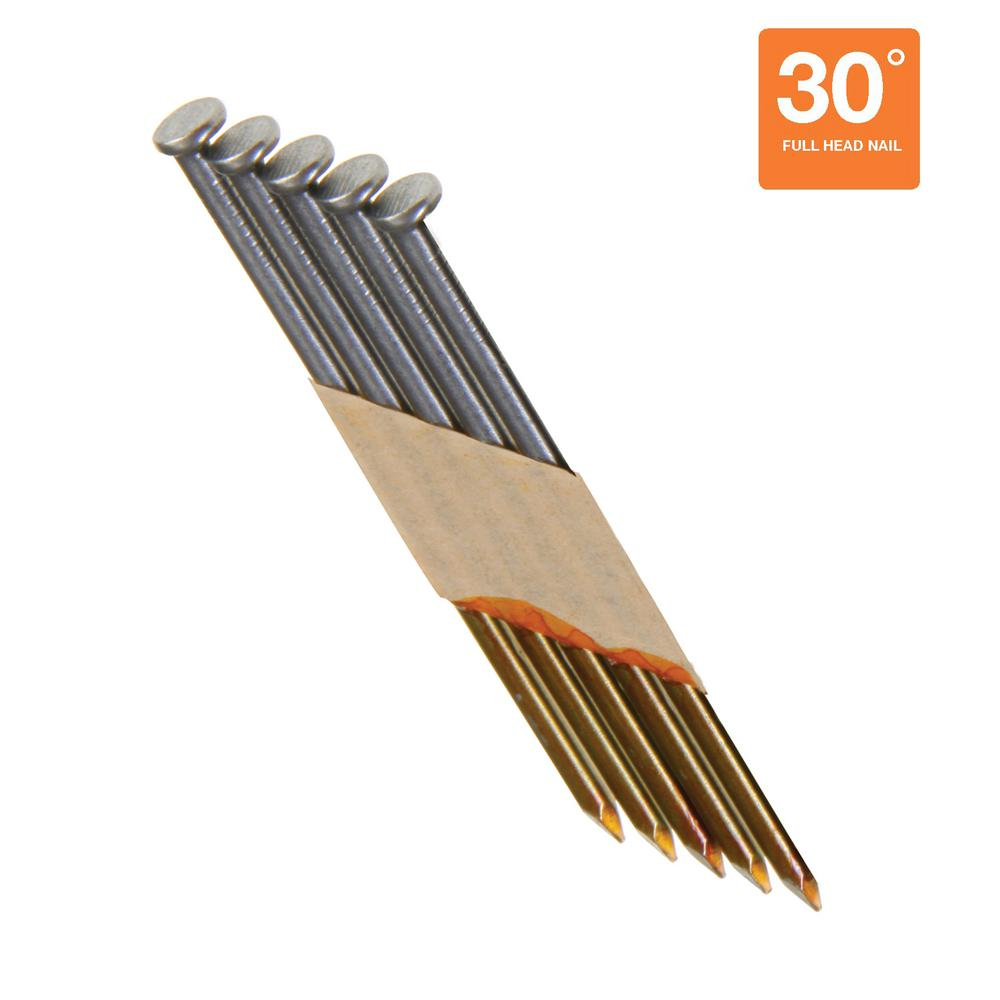 Grip-Rite 3 in. x 0.131 in. 30° Bright Smooth Shank Nails (4,000 per Pack)