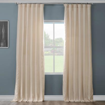 Ancient Ivory French Linen Curtain - 50 in. W x 96 in. L