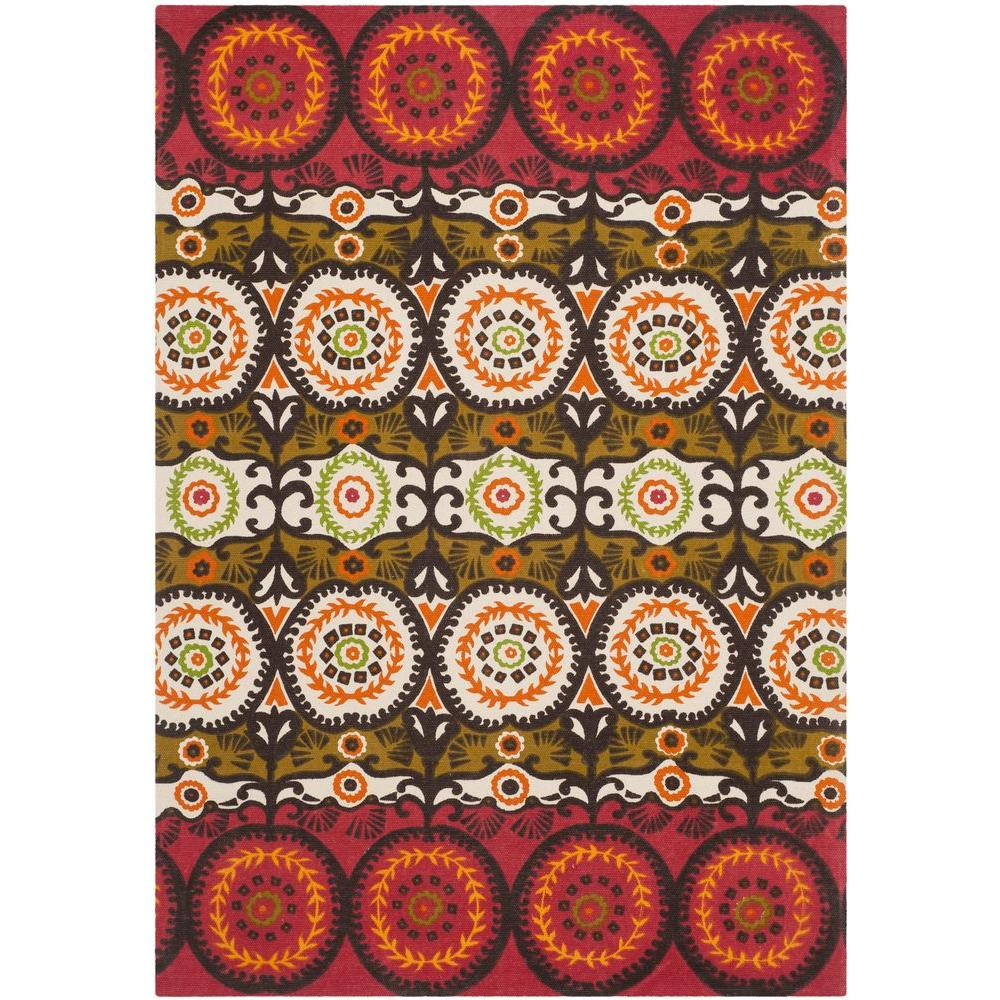 Safavieh Cedar Brook Red/Orange 4 ft. x 6 ft. Area Rug