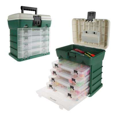 4-Drawer Green Camping and Fishing Storage Tool-Box