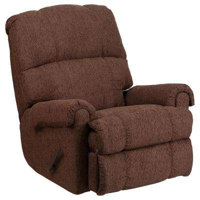 Contemporary Couger Chocolate Chenille Rocker Recliner