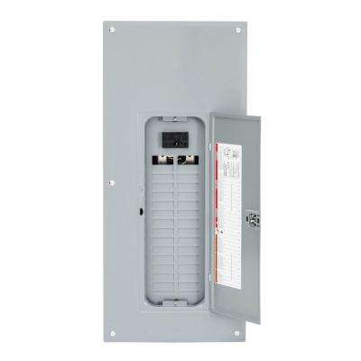 Homeline 125 Amp 30-Space 60-Circuit Indoor Main Breaker Plug-On Neutral Load Center with Cover