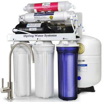 WQA Gold Seal Maximum Performance Under Sink Reverse Osmosis Water Filtration System w/ Booster Pump and Alkaline Filter
