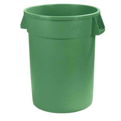 Bronco 32 Gal. Green Round Trash Can (4-Pack)