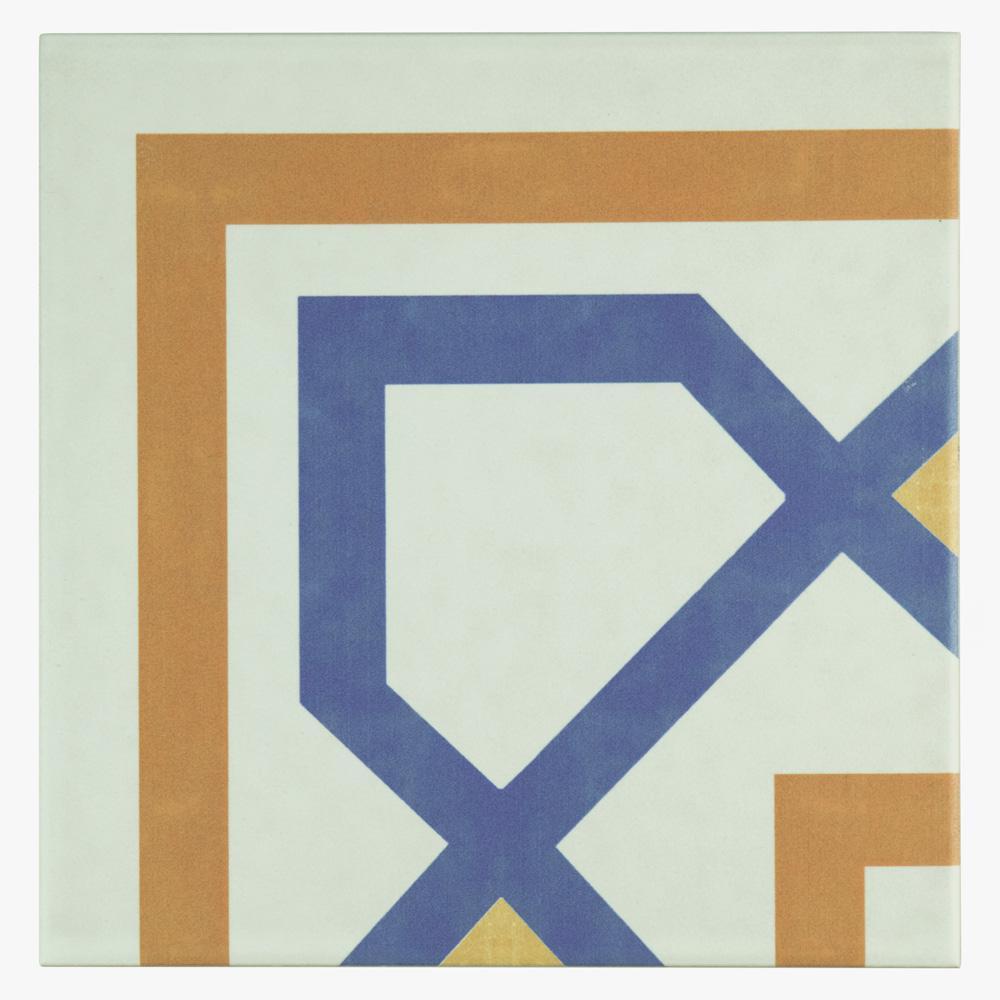 Revival Corner Encaustic 7-3/4 in. x 7-3/4 in. Ceramic Floor and Wall Tile