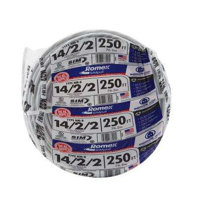 250 ft. 14/2/2 Solid Romex SIMpull CU NM-B W/G Wire