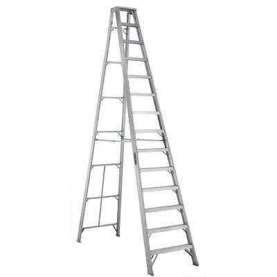 14 ft. Aluminum Step Ladder with 300 lbs. Load Capacity Type IA Duty Rating