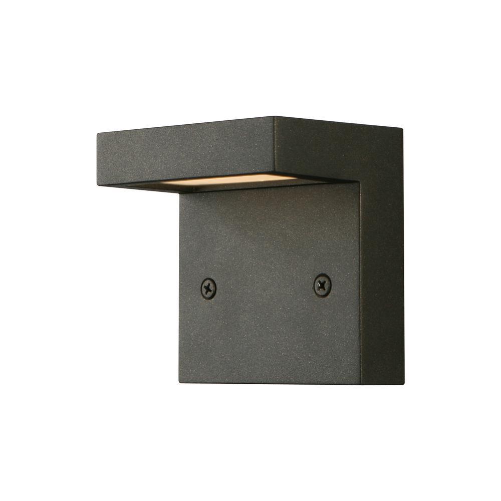 3-Watt Architectural Black Integrated LED Deck Light
