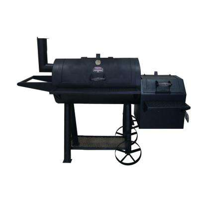 36 in. Ranchers XL Charcoal Grill/Smoker in Black