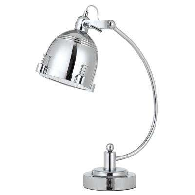 21 in. Metal Table/Desk Lamp in Chrome