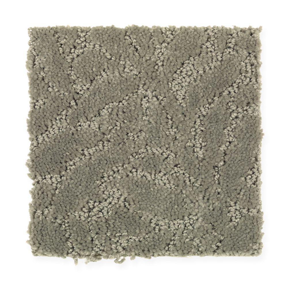 Carpet Sample - Rushing - Color Botanical Pattern 8 in. x 8 in.