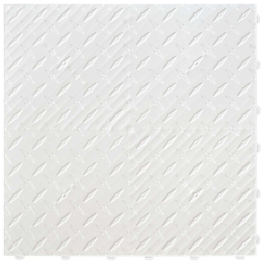 15.75 in. x 15.75 in. Arctic White Diamond Trax 25-Tile Modular