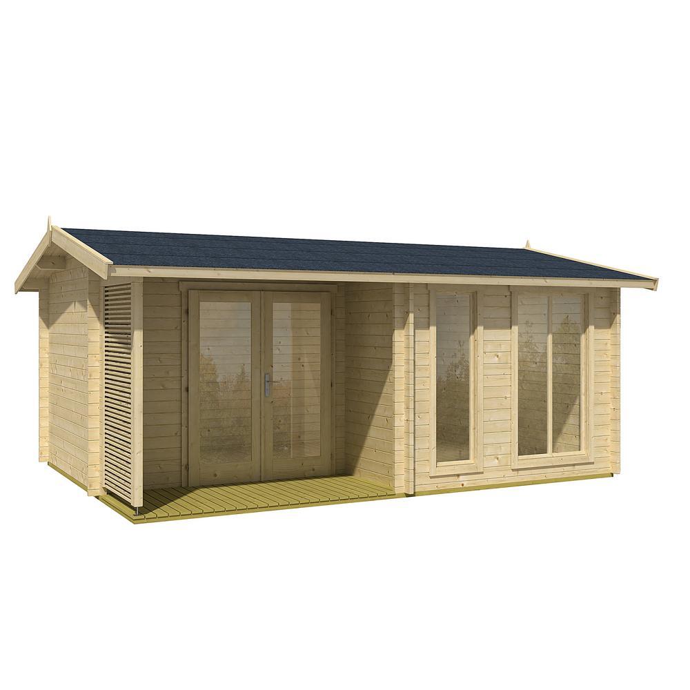 Allwood 174 sq  ft  Cabin Kit, Garden House