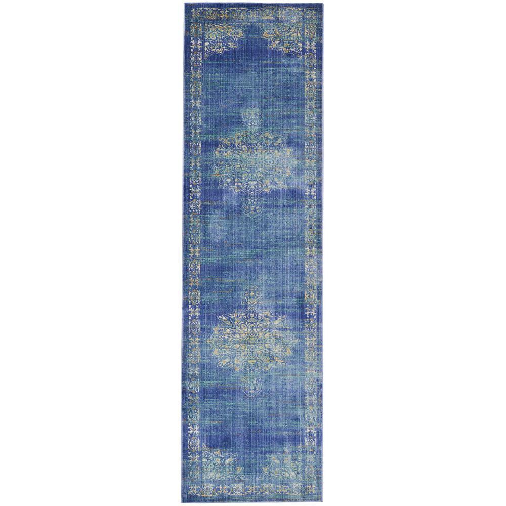 Delmar Teal (Blue) 2 ft. x 5 ft. 11 in. Runner