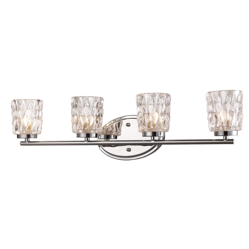 Brooks 4-Light Polished Chrome Bath Light