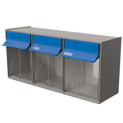 24 in. W Stackable 3-Plastic Storage Bins Tilt Bins Organizer for Everything from DIY to Crafts