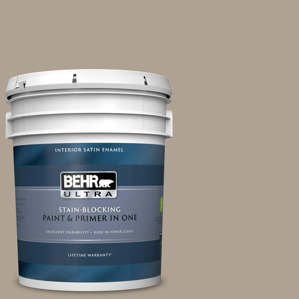 Behr Ultra 5 Gal 730d 4 Garden Wall Satin Enamel Interior Paint And Primer In One 775405 The Home Depot