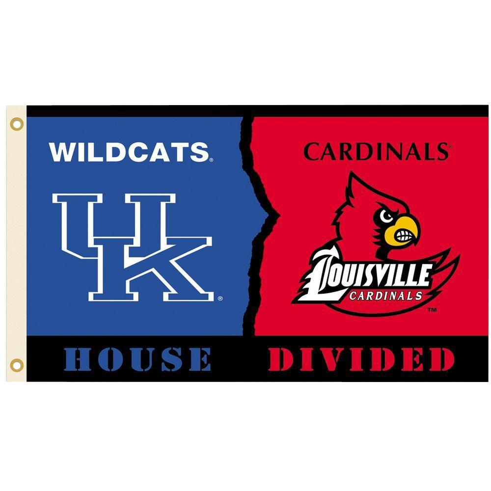 BSI Products NCAA 3 ft. x 5 ft. Kentucky/Louisville Rivalry House Divided Flag
