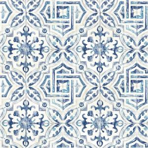 Sonoma Blue Spanish Tile Wallpaper Sample
