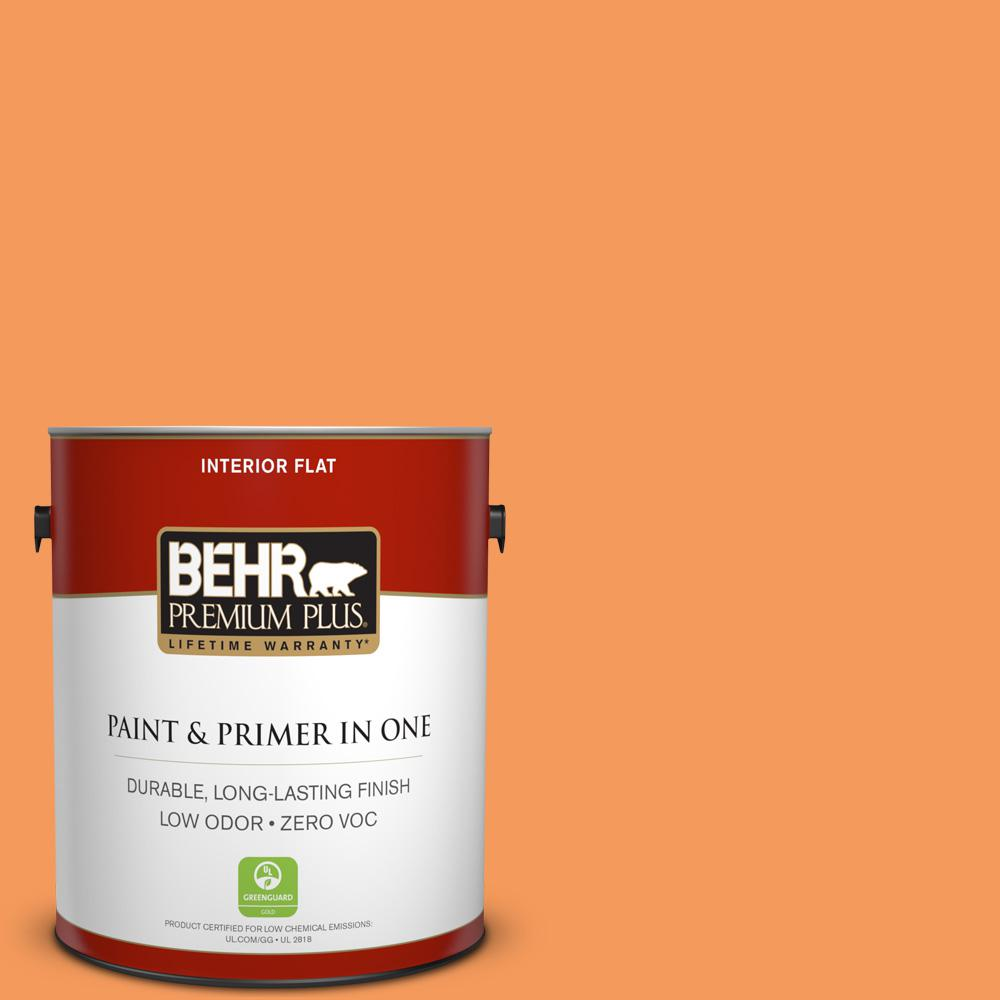1-gal. #260B-6 Blaze Orange Zero VOC Flat Interior Paint
