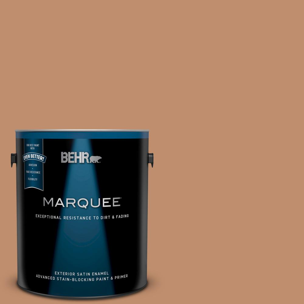 Behr Marquee 1 Gal 260f 5 Applesauce Cake Satin Enamel Exterior Paint And Primer In One 945401 The Home Depot