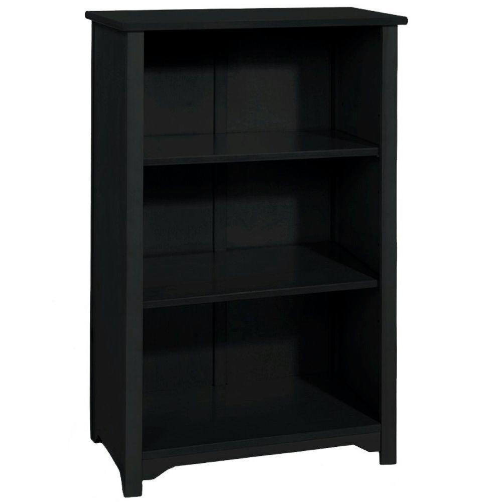 Oxford Black Open Bookcase