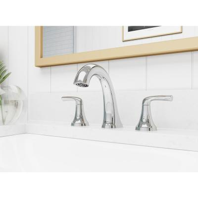Ladera 8 in. Widespread 2-Handle Bathroom Faucet in Polished Chrome (2-Pack)