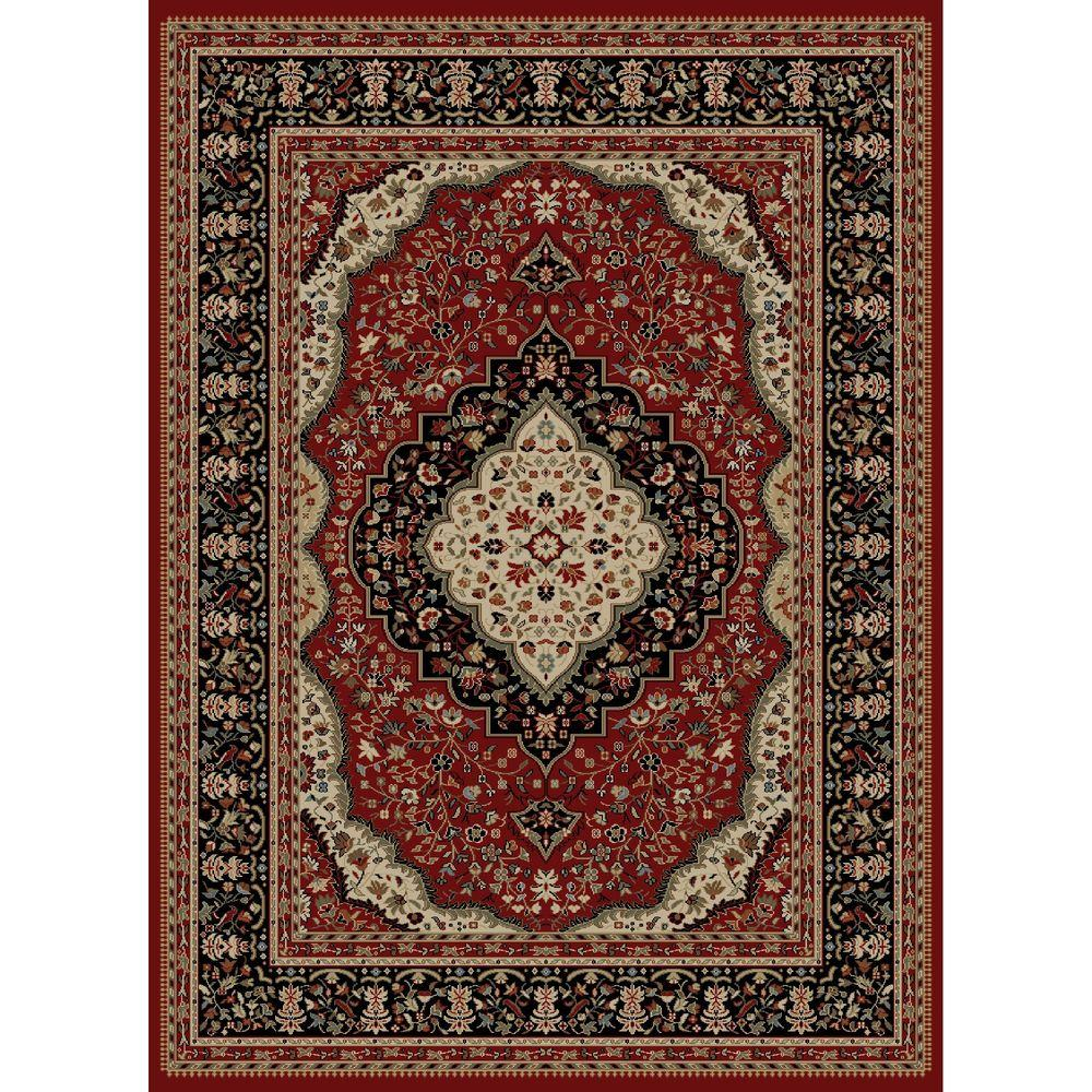 Concord Global Trading Ankara Kerman Red 6 ft. 7 in. x 9 ft. 6 in. Area Rug