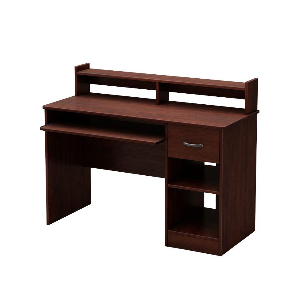 South Shore Axess Royal Cherry Desk with Hutch