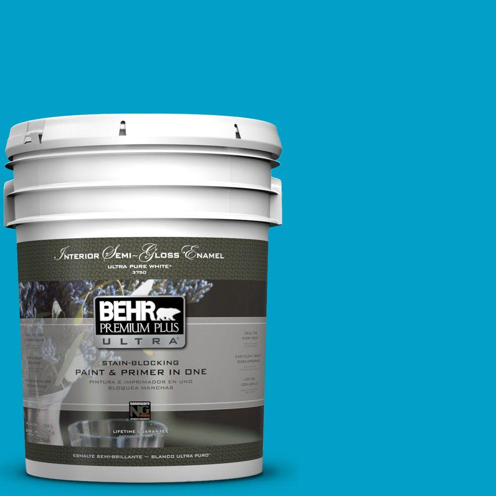 BEHR Premium Plus Ultra 5-gal. #P490-5 Yucatan Semi-Gloss Enamel Interior Paint