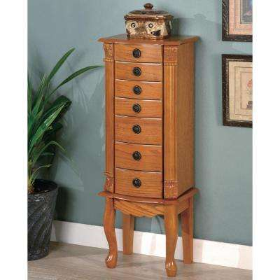 Michelle Warm Brown Jewelry Armoire