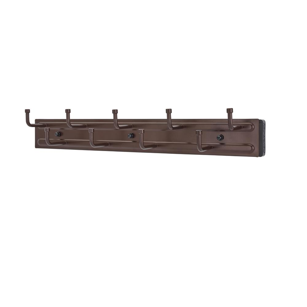 Rev-A-Shelf 9-Hook Oil Rubbed Bronze Pull-Out Belt Rack