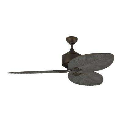 Delray 56 in. Indoor/Outdoor Roman Bronze Ceiling Fan