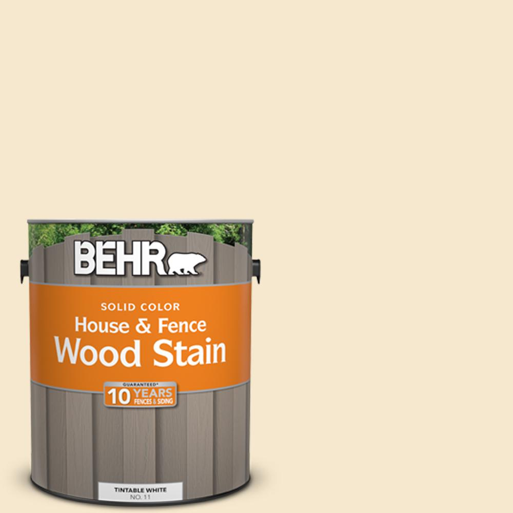 Exterior White Stain For Wood: BEHR 1 Gal. White Base Solid Color House And Fence
