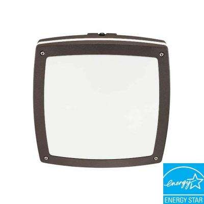 Wall/Ceiling 2-Light Outdoor Architectural Bronze Square Light Fixture