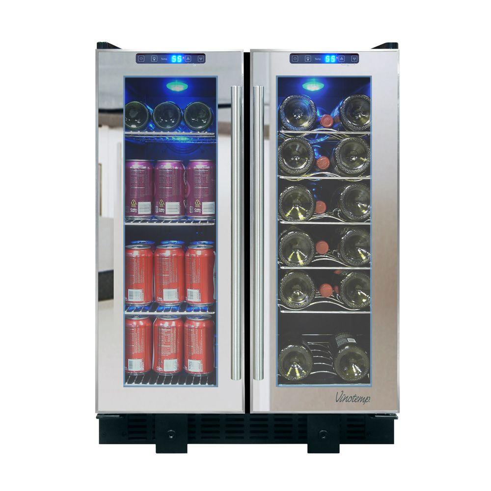 Vinotemp 23 5 In 36 Bottle Touch Screen Mirrored Wine And