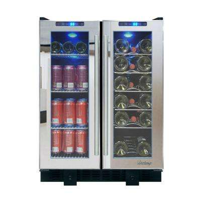 23.5 in. 36-Bottle Touch Screen Mirrored Wine and Beverage Cooler