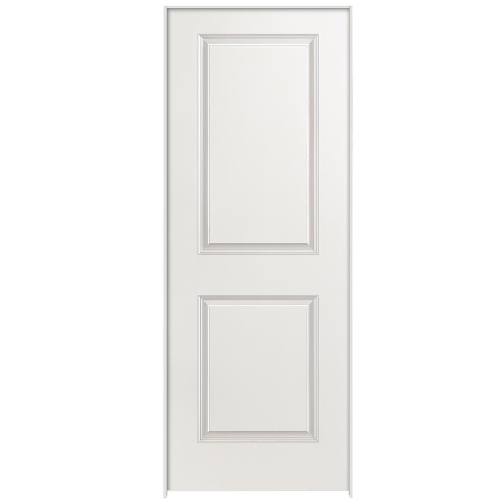 28 in. x 80 in. 2-Panel Square Top Right-Handed Hollow-Core Primed