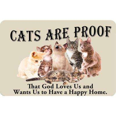 Printed Cats are Proof 17.5 in. x 26.5 in. Pet Mat