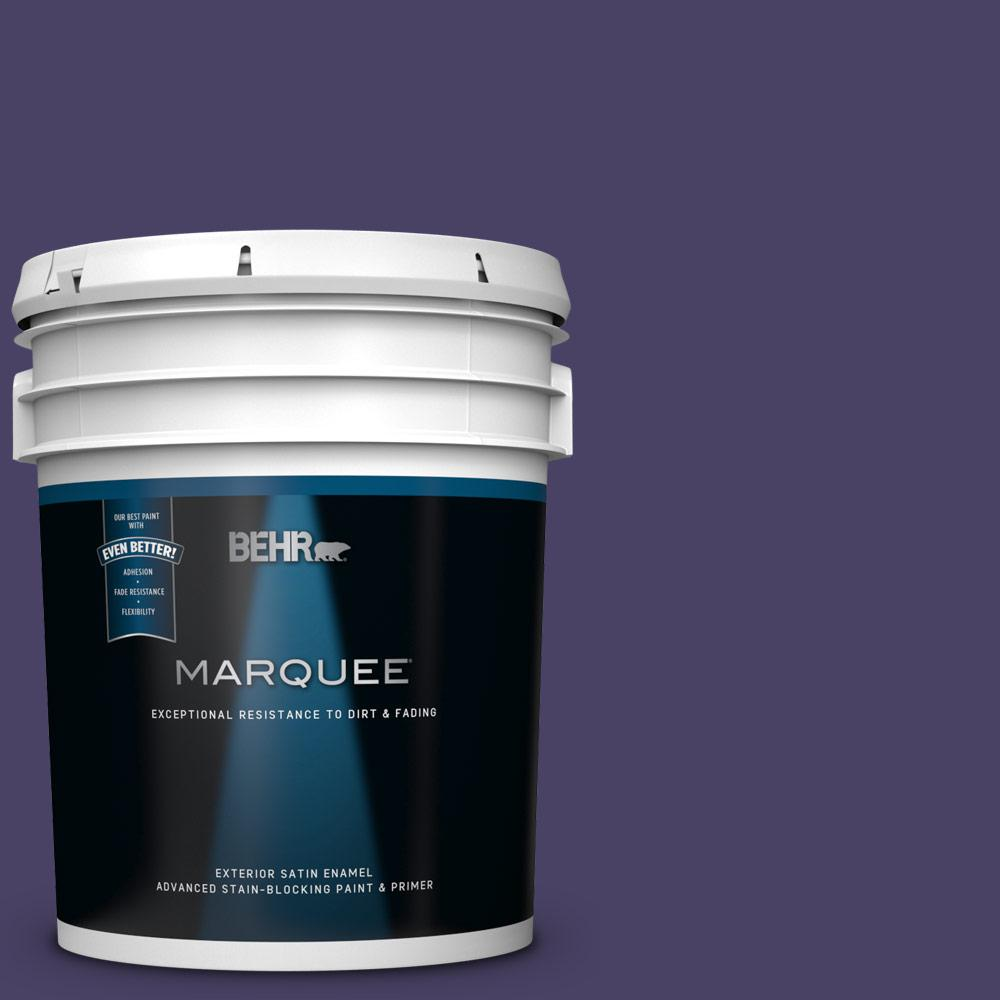 Behr Marquee 5 Gal S H 650 Berry Charm Satin Enamel Exterior Paint And Primer In One 945305 The Home Depot